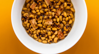 bowl of black-eyed peas.