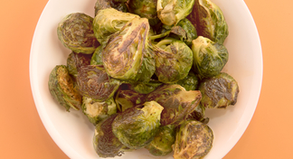 Bowl of roasted brussels sprouts