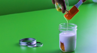 Honey poured over yogurt