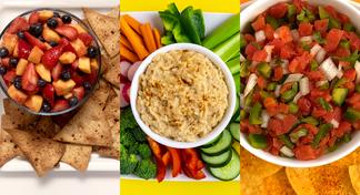 HappyHealthy Fruit Salsa, Hummus Spread, and Salsa Your Way