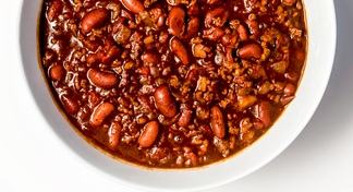 Bowl of quick chili.