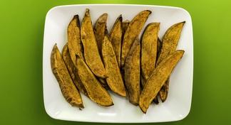 plate of sweet potato planks