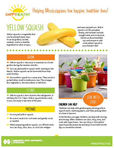 Download HappyHealthy Yellow Squash Newsletter (P3525)