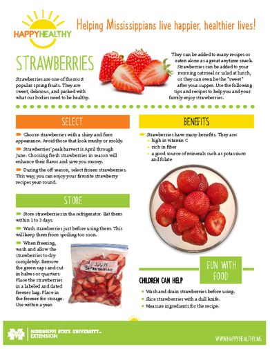 Download HappyHealthy Strawberries Newsletter (P3523)
