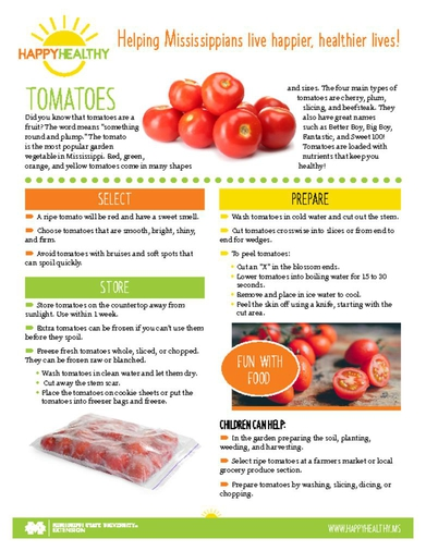Download HappyHealthy Tomatoes Newsletter (P3611)