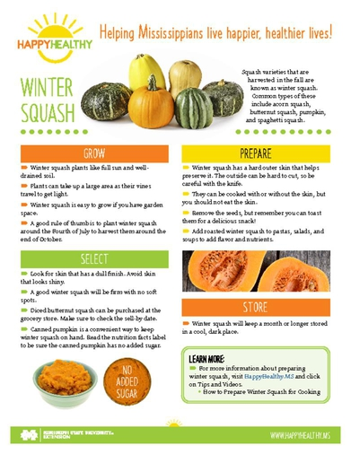 Download HappyHealthy Winter Squash Newsletter (P3613)