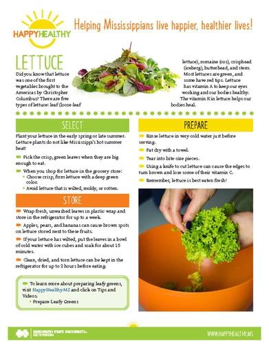 Download HappyHealthy Lettuce Newsletter (P3610)